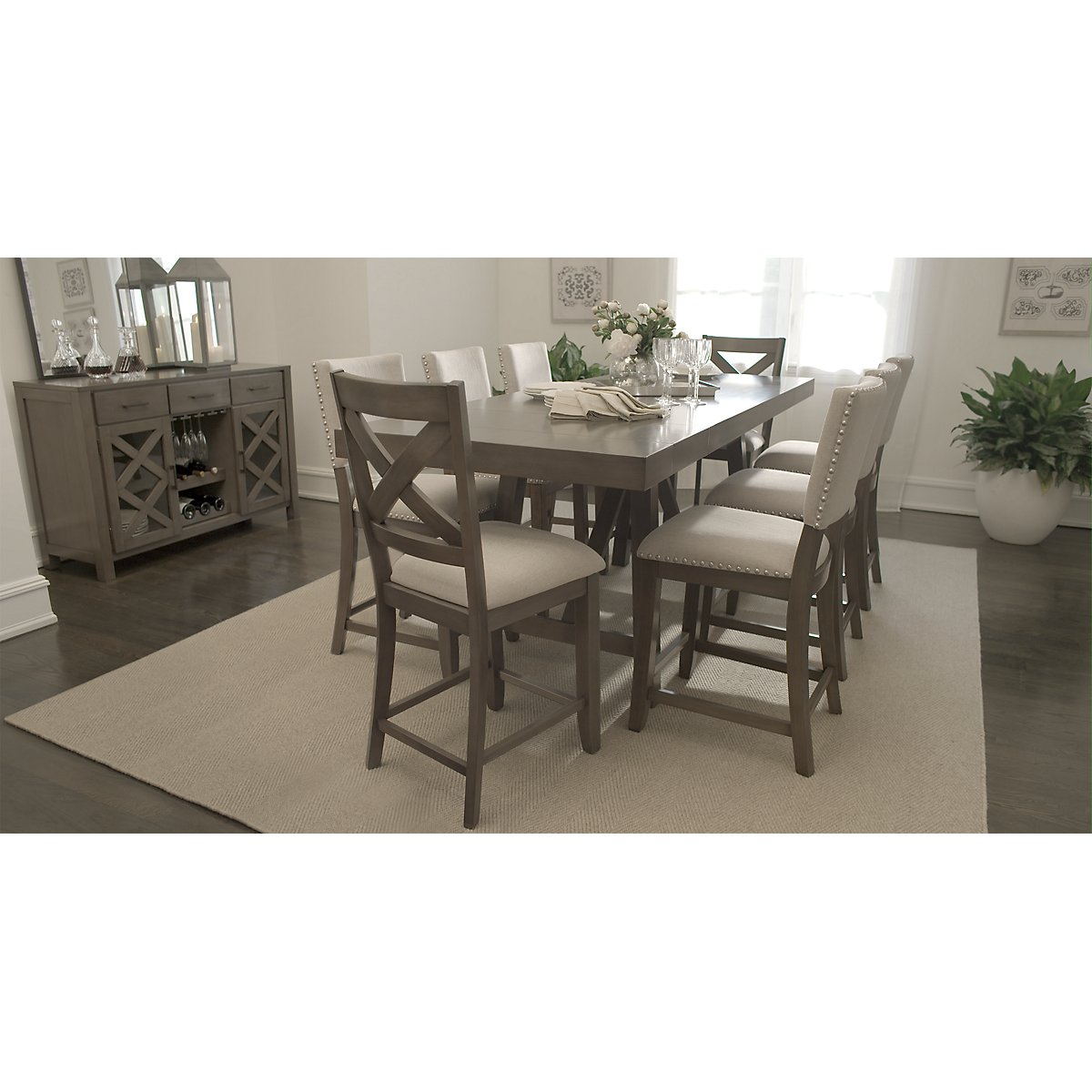 City Furniture Omaha Gray 24 Upholstered Barstool