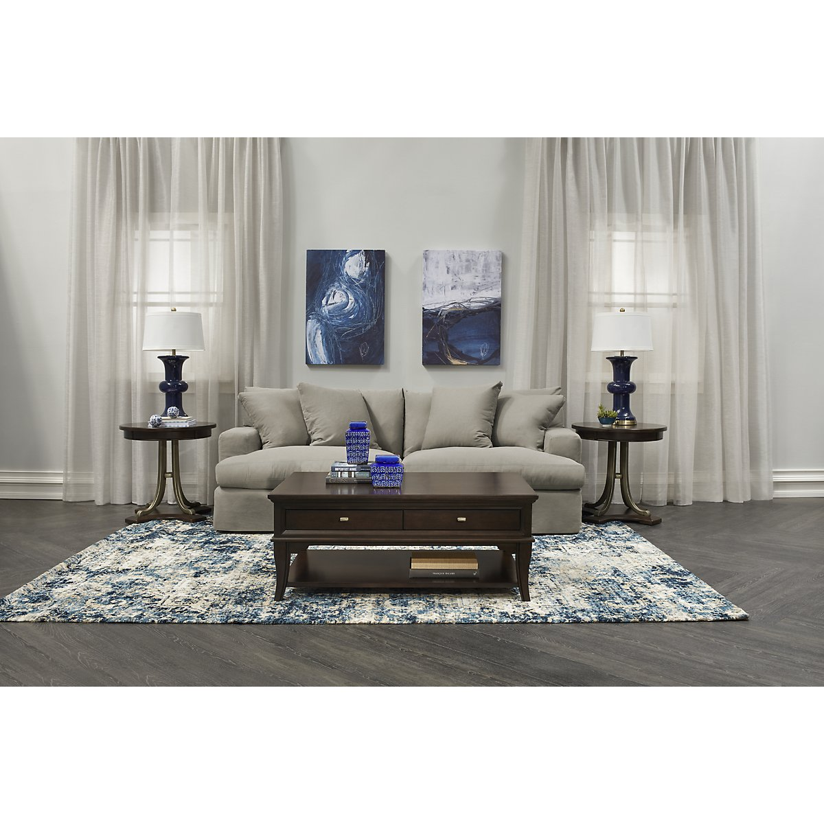 City Furniture Delilah Gray Fabric Living Room