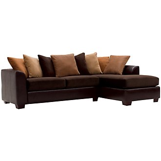 Product Image: Safari Two-Tone Microfiber Right Chaise Sectional