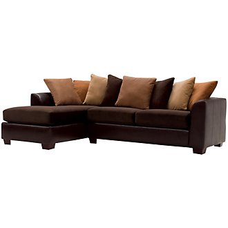 Product Image: Safari Two-Tone Microfiber Left Chaise Sectional