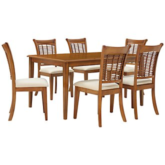 Bayberry Mid Tone Rectangular Table & 4 Chairs