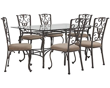 Westcot2 Rectangular Glass Table & 4 Chairs