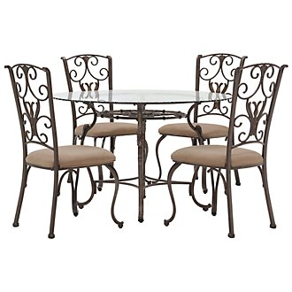 Westcot2 Round Glass Table & 4 Chairs