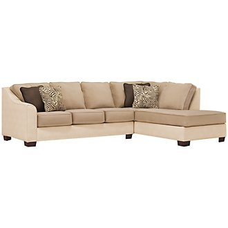 Product Image: Kenya2 Two-Tone Microfiber Right Bumper Sectional
