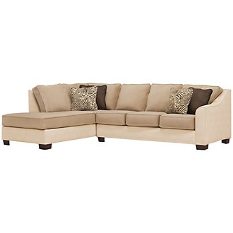 Product Image: Kenya2 Two-Tone Microfiber Left Bumper Sectional
