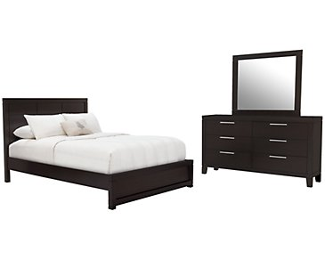 Encore2 Dark Tone Wood Platform Bedroom