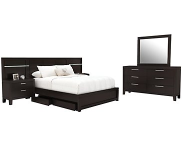 Encore2 Dark Tone Wood Spread Storage Bedroom