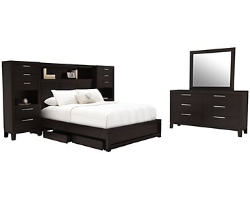 Encore2 Dark Tone Wood Wall Storage Bedroom