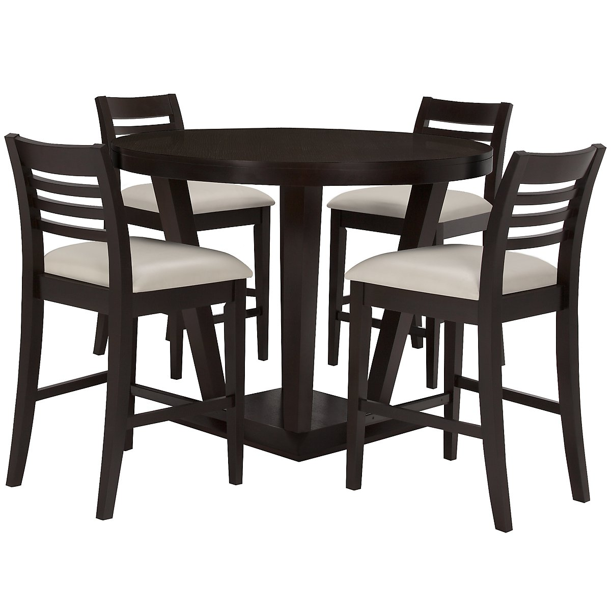 Encore2 Dark Tone High Table & 4 Barstools