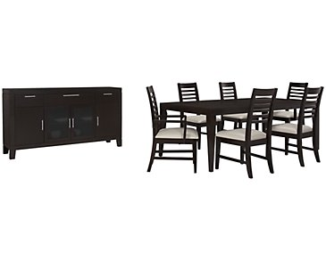 Encore2 Dark Tone Rectangular Dining Room