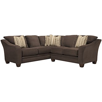 Grant2 Dk Brown Microfiber Two-Arm Sectional