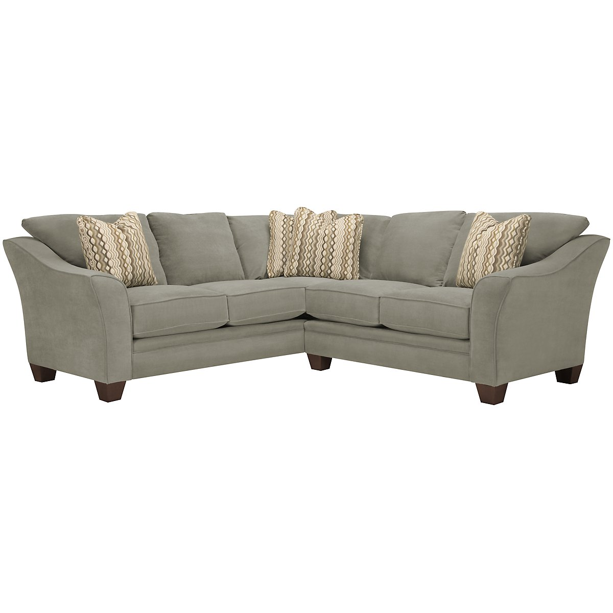 Grant2 Light Green Microfiber Two-Arm Sectional