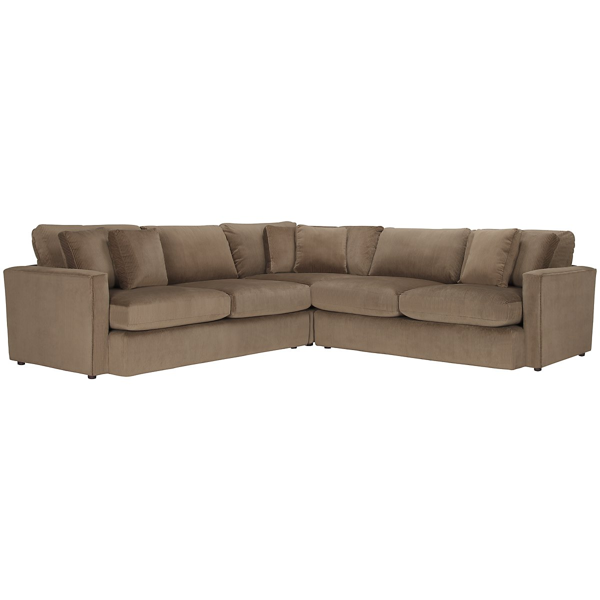 Tara2 Dk Taupe Microfiber Small Two-Arm Sectional