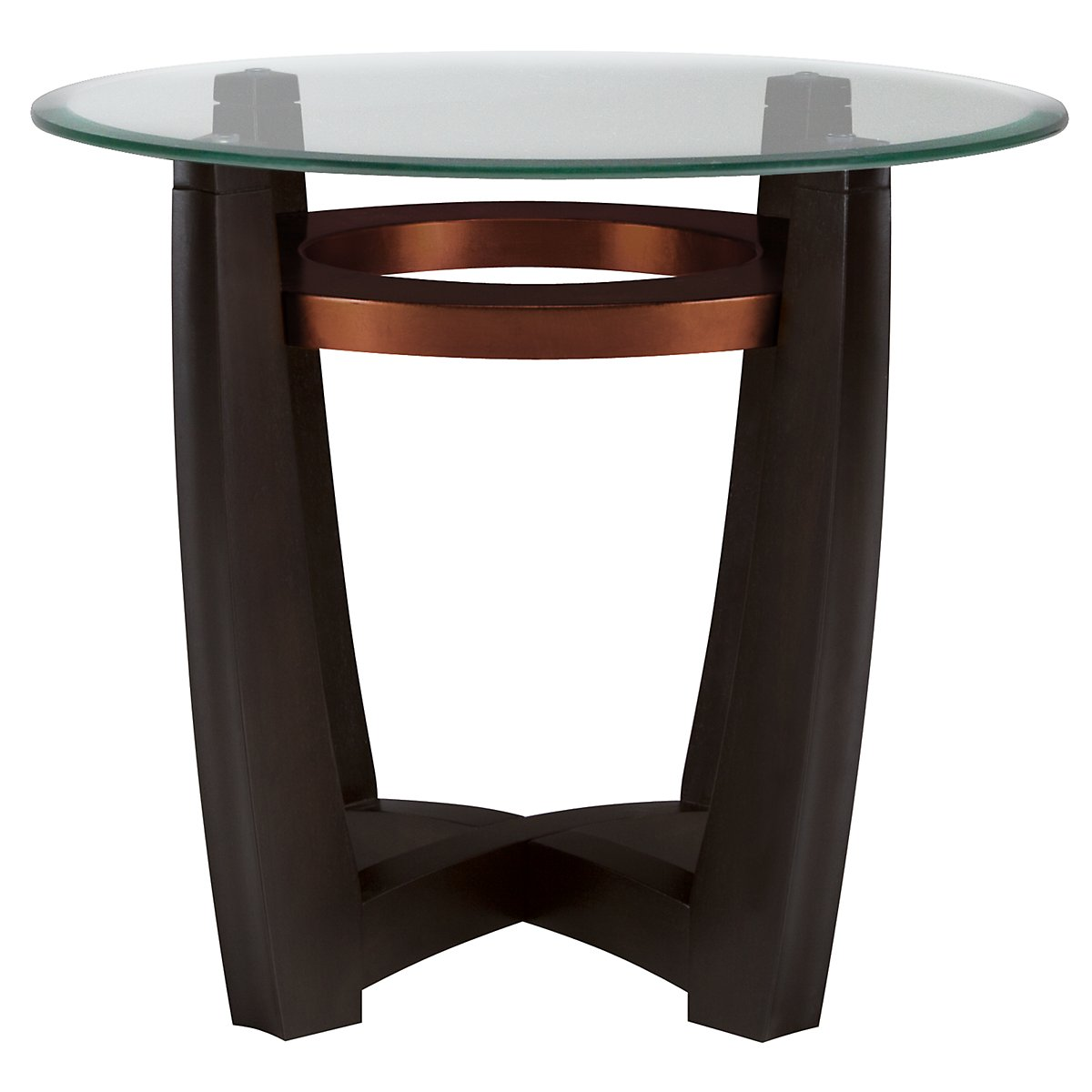 Ava Glass Round End Table