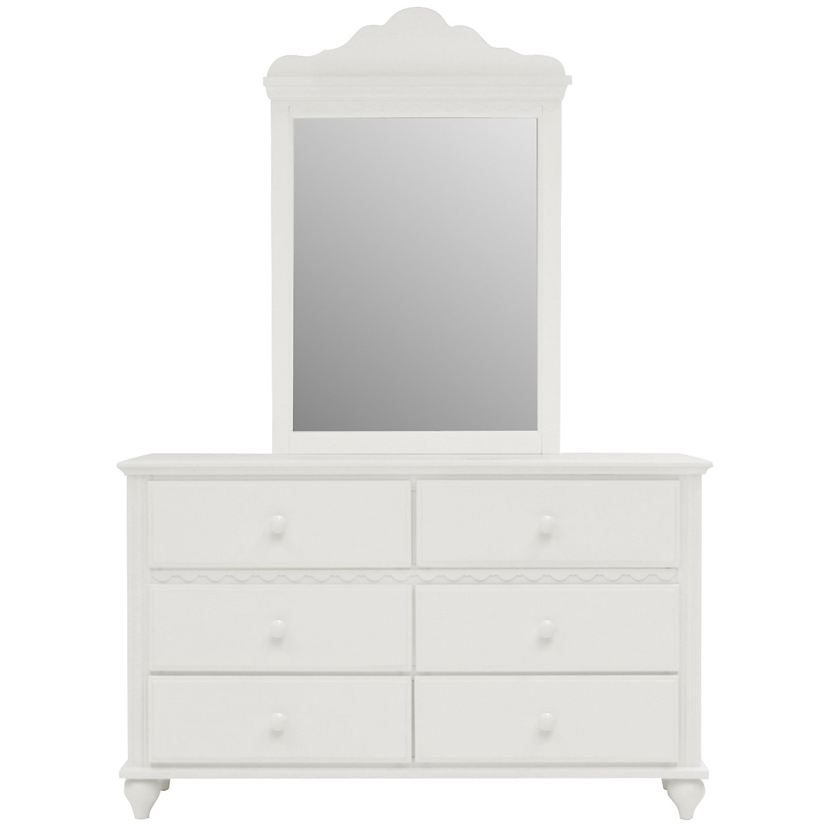 Lauren White Dresser & Mirror