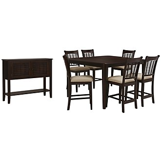 Bayberry Dark Tone High Dining Room
