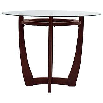 Park Glass Round High Dining Table