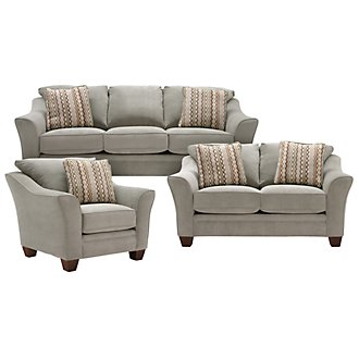 Grant2 Lt Green Microfiber Living Room