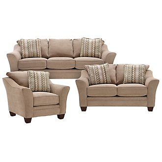 Grant2 Lt Brown Microfiber Living Room