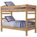 Cinnamon Mid Tone Bunk Bed Bedroom