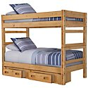 Cinnamon Mid Tone Storage Bunk Bed