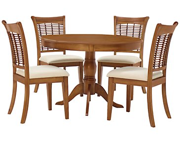 Bayberry Mid Tone Round Table & 4 Chairs