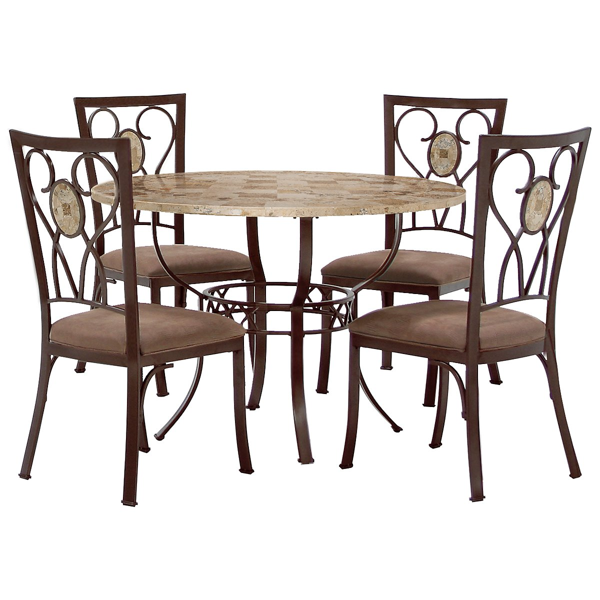 Brookside Round Stone Table & 4 Chairs