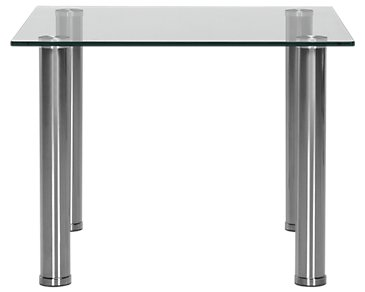 Napoli Glass Silver Square End Table
