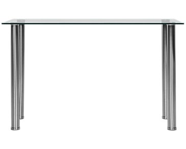 Napoli Glass Silver Sofa Table