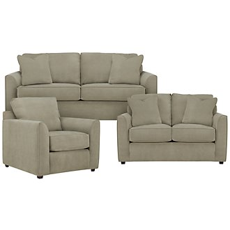 Product Image: Express3 Lt Green Microfiber Living Room