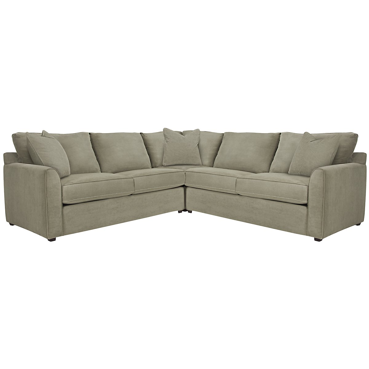 Express3 Light Green Microfiber Small Two-Arm Sectional