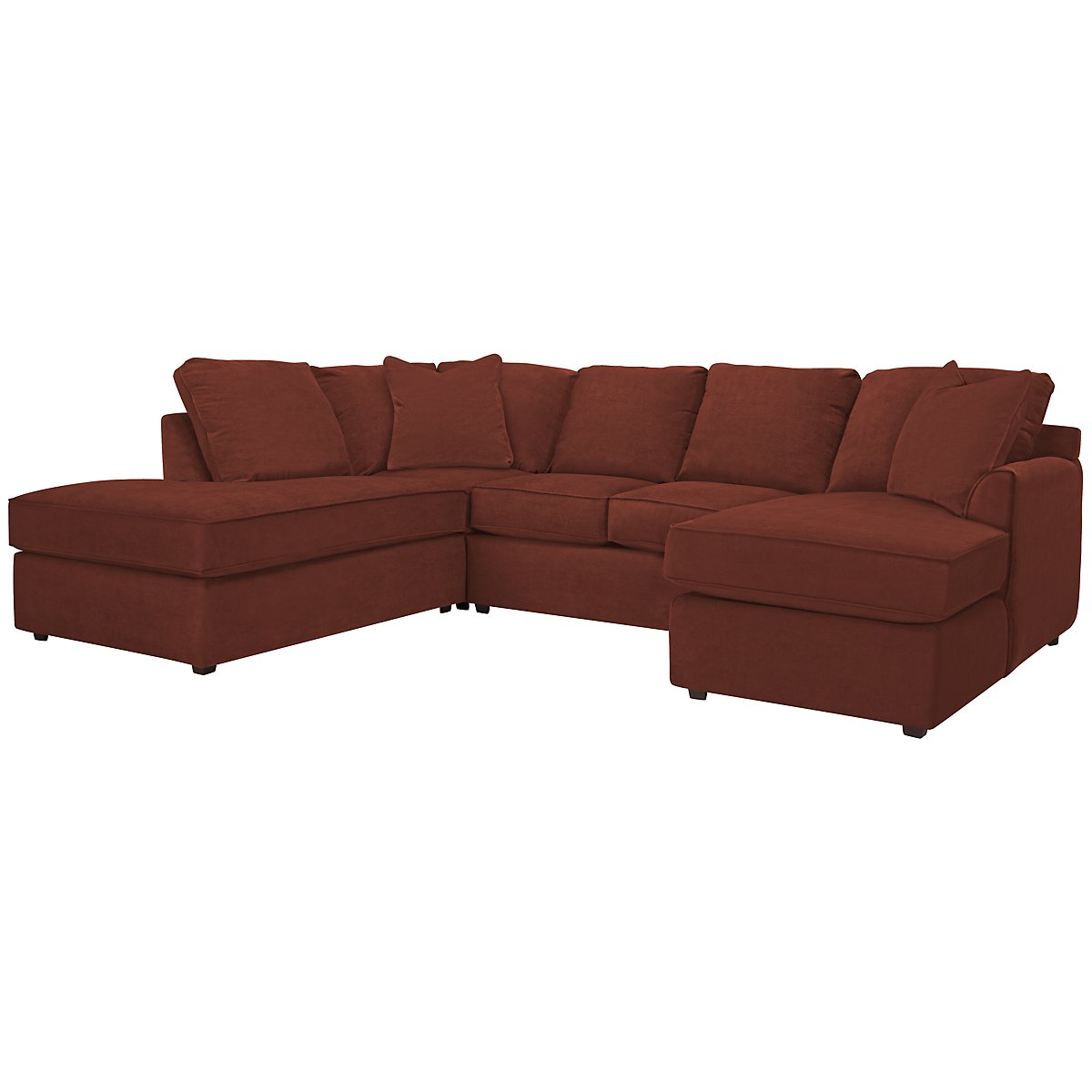 Express3 Red Microfiber Small Left Bumper Sectional