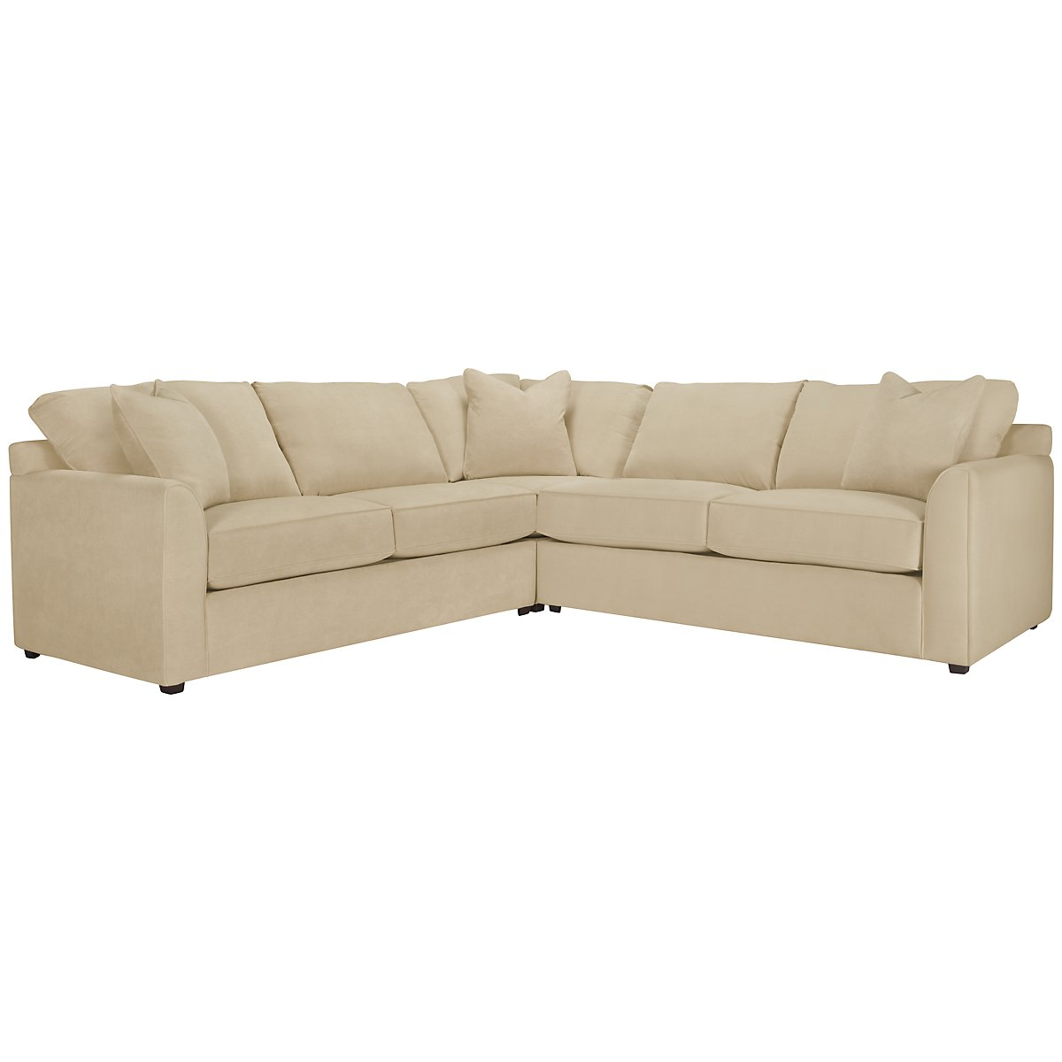 Express3 Lt Beige Microfiber Small Two-Arm Sectional
