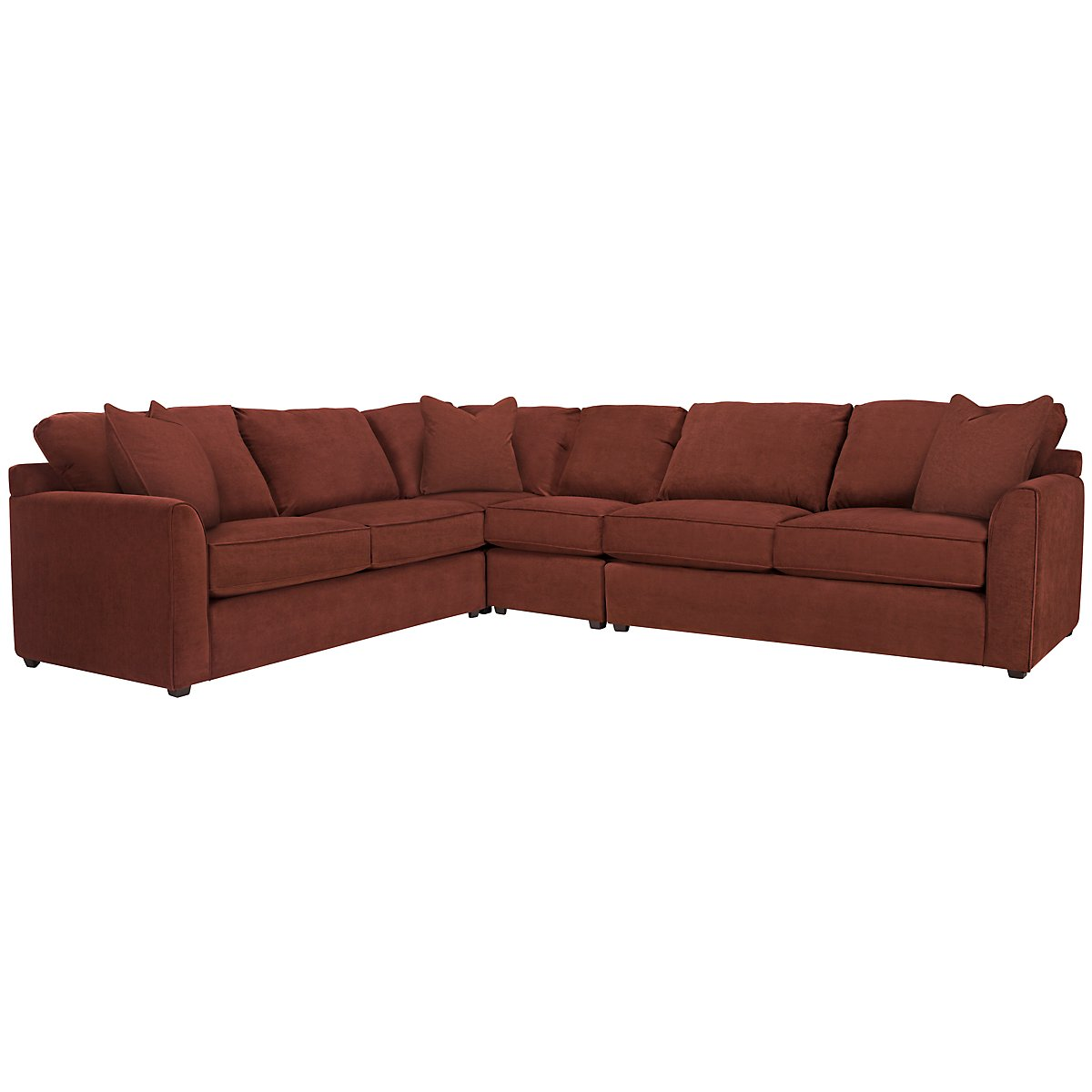 Express3 Red Microfiber Large Two-Arm Sectional