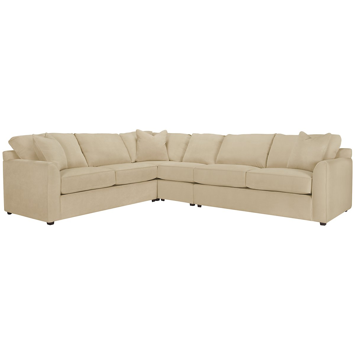 Express3 Light Beige Microfiber Large Two-Arm Sectional