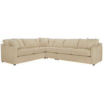 Product Image: Express3 Lt Beige Microfiber Large Two-Arm Sectional