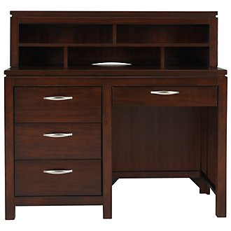 Perimeter Dark Tone Desk & Hutch