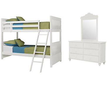 Lauren White Bunk Bed Bedroom