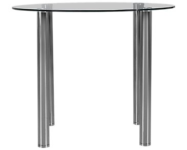 Napoli Glass Round High Dining Table