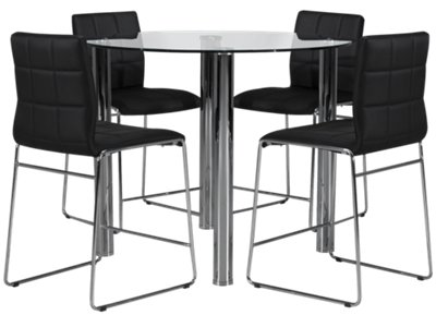 Black and white dining room perfect black dining room for Black n white dining rooms
