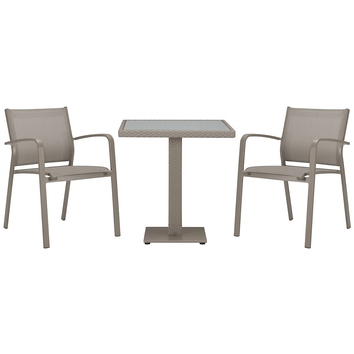 "Lisbon Khaki 27"" Square Table & 2 Chairs"