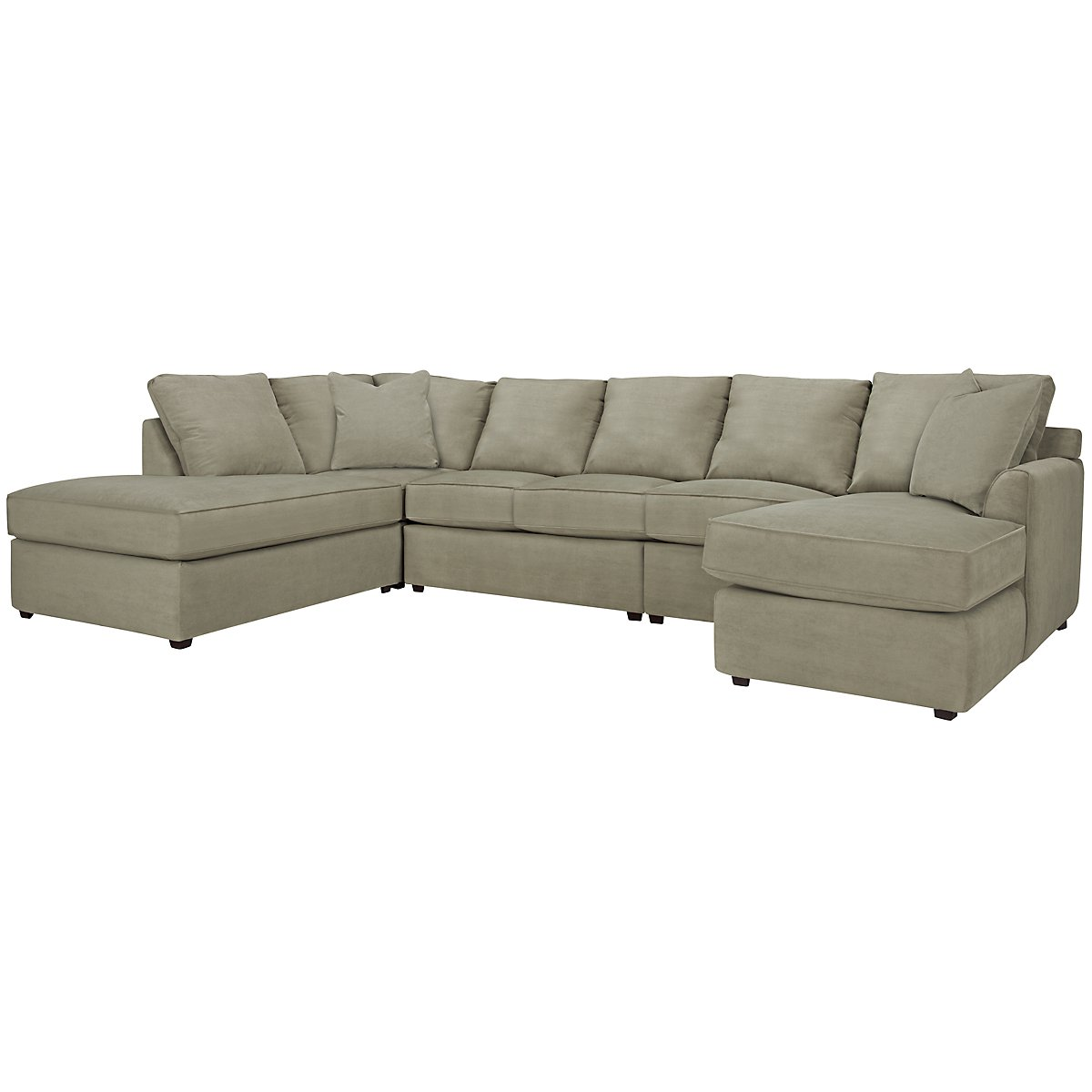 Express3 Lt Green Microfiber Large Left Bumper Sectional