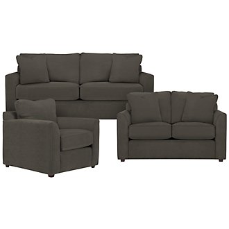 Product Image: Express3 Dk Gray Microfiber Living Room