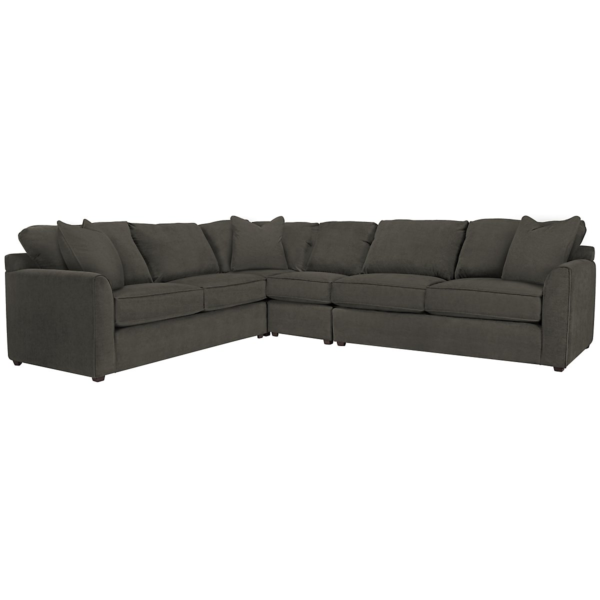 Express3 Dk Gray Microfiber Large Two-Arm Sectional