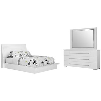 Product Image: Dimora3 White Wood Platform Bedroom
