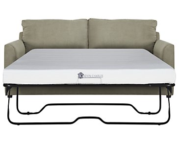 Express3 Light Green Microfiber Memory Foam Sleeper
