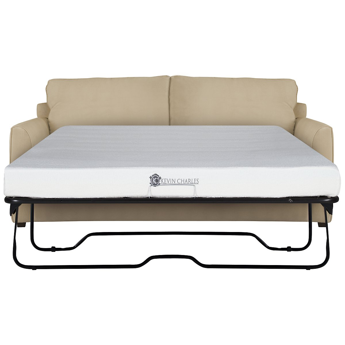 Express3 Light Beige Microfiber Memory Foam Sleeper