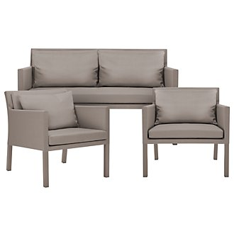Lisbon2 Khaki Outdoor Living Room Set