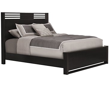 Gianna Dark Tone Panel Bed