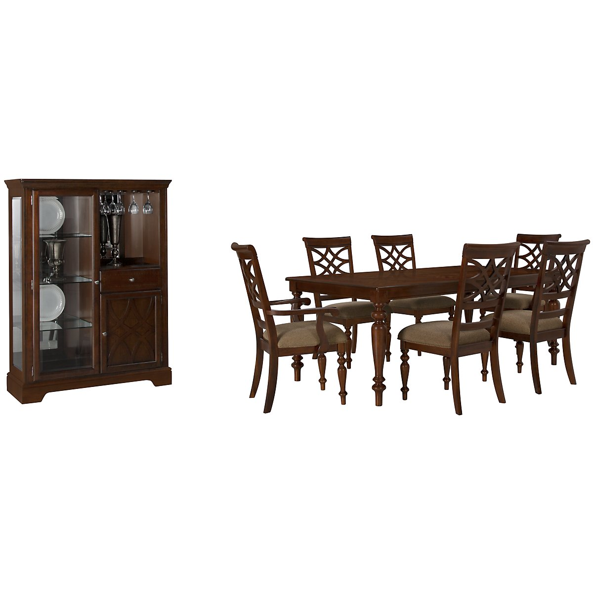 Rectangle Dining Room Tables City Furniture Oxford Mid Tone Rectangular Table 4 Chairs